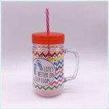 tasse de café 450ml, annonçant la tasse en plastique de course avec la paille (SH-PM31)