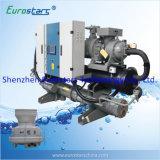 Refrigerador de água de refrigeração do parafuso dos refrigeradores da transformação de produtos alimentares água industrial