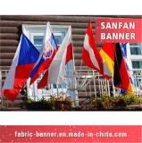 Bandeira 100% nacional da mão da impressão do poliéster vária