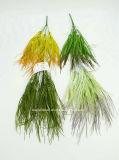 인공 플라스틱 또는 푸른 잎 풀이 나게 하십시오로 7개의 줄기 (XF90244)