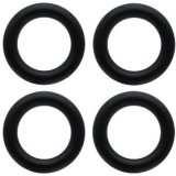 Negro elástico de alta calidad conductiva junta tórica de goma