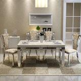 도매가 싼 백색 대리석 식당 테이블 식탁