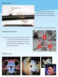 Het nieuwe Programmeerbare Licht van het Wiel van de Fiets 48LED 128LED 144LED 216LED