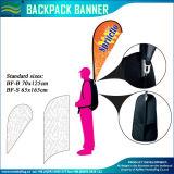 Флаг Backpack полиэфира знамени Teardrop гуляя (M-NF04F06097)