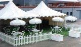 Hete Verkoop 5X5m Tent van Gazebo van de Pagode van de Markttent van pvc van het Aluminium de Witte