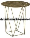 Light Gold End Table com 2 mm de espessura Ss 304