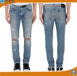 Брюки джинсовой ткани кальсон джинсыов Mens тавра тонкие прямые для людей