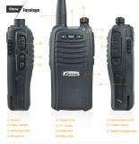 Ce Goedgekeurde Zendontvanger VHF/UHF Draagbare Radio Lt.-66