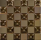 Teja luxuy acero inoxidable del estilo del metal del mosaico por un revestimiento de la pared (FYMF8016)