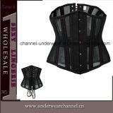 "Women ""sexy"" Leather Bodysuit com Skirt Lingerie Corset (TA9192)"