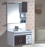 Nueva vanidad montada en la pared del cuarto de baño del PVC con la cabina lateral