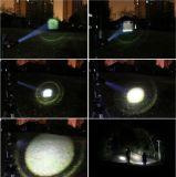 USA-EUheiße CREE Xml T6 LED 3800lm wasserdichte Zoomable Aluminiumfackel 18650 nachladbar oder Summen-Taschenlampe der Batterie-3*AAA