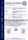 Conducteur électrique de porte coulissante pour les portes en verre lourdes