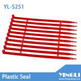 Uno mismo que bloquea el sello plástico sellado seguridad (YL-S251)