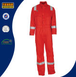100%年の綿の対面真鍮のジッパーFrの衣類のPachesの安全つなぎ服