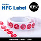 Papel revestido ISO14443A ultraligero adhesivo del Hf 13.56MHz de la etiqueta de Nfc
