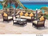 Sofà sezionale di vimini utilizzato durevole della mobilia del patio della mobilia esterna del rattan