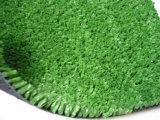 Erba artificiale del tappeto erboso sintetico con la fibra del gambo