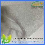 Tissu enduit blanc imperméable à l'eau de tissu de Terry