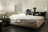 Base de cuero de madera del dormitorio moderno de los muebles (A-B42)