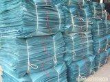 Бортовой шов закрепляет петлей мешок PP навальный с перекрестными угловойыми петлями