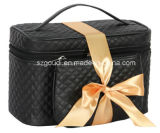 Функциональное Black Stitching Travel Toiletry Cosmetic Bag с Small Pouch