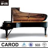 Piano à queue noir 275cm de bois d'ébène
