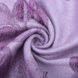 Sciarpa di inverno di Pashmina delle donne con il reticolo di fiore