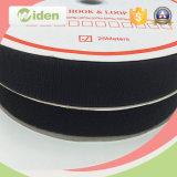 gancho de leva y bucle de nylon de la viscosidad de las cintas negras de 25m m buenos