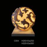 Lampen-Laterne des Garten-Sandstein geschnitzte Skulptur-Kugel-Audiolautsprecher-LED