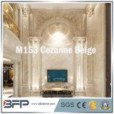 M153 Cezanne Columna de mármol beige para decoración interior y exterior