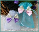 Sacchetti della caramella di cerimonia nuziale del Organza del sacchetto del regalo del Organza con il Bowknot del nastro