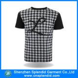Coton court en gros de l'impression 95 de chemise 5 T-shirts de Spandex