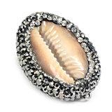 طبيعيّ محارة [سا سنيل] مدلّاة ينظم [رهينستون] بلّوريّة يرصف مدلّاة مجوهرات عقد [ديي]