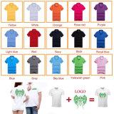 熱い販売のロゴのシルクスクリーンによって印刷される人の綿ワイシャツ
