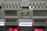 Wonyo 1204cは4帽子のTシャツの平らな刺繍が付いているヘッド刺繍機械を3つの主関数コンピュータ化した