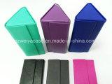 New Style PU couro caso de Artesanato Triângulo Folding Eyewear