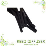 Black Colored Bamboo Natural Rattan Reed Difusor Reencher Sticks para difusor de óleo