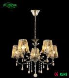 Lampada Pendant di cristallo/indicatore luminoso di vetro del lampadario a bracci (D-9318/3)