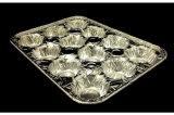 Conteneur de pain de papier d'aluminium de 12 cavités