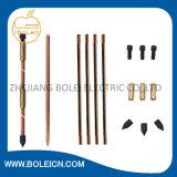 Rods métallisés de cuivre, mettant à la terre Rod, Rods fondants de cuivre, Rods au sol