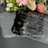 De douane graveerde de AcrylUitnodigingen van het Huwelijk