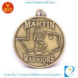 Promotion Custom Antique Bronze Stamp Warriors Medal