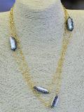 نمو [فرش وتر] باروكيّ لؤلؤة سلسلة عقد مجوهرات