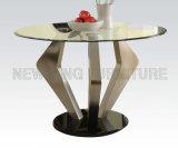 シンプルな設計の食堂のガラスキッチン・テーブルおよび椅子(NK-DTB025)