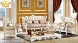 Salón Sofá / Madera Sofá / sofá de estilo europeo / clásico Sofá / Media-sofá de cuero Sq011