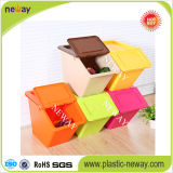 Caixa de armazenamento plástica colorida bonita para o papel