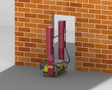 기계를 회반죽 벽 연출 기계 벽