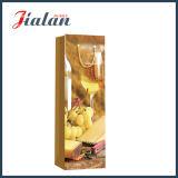 Лоснистый прокатанный мешок подарка бутылки вина виноградины бумаги цвета слоновой кости бумажный