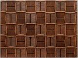 El panel de pared vivo del PVC del MDF 3D de la sala de estar del impacto